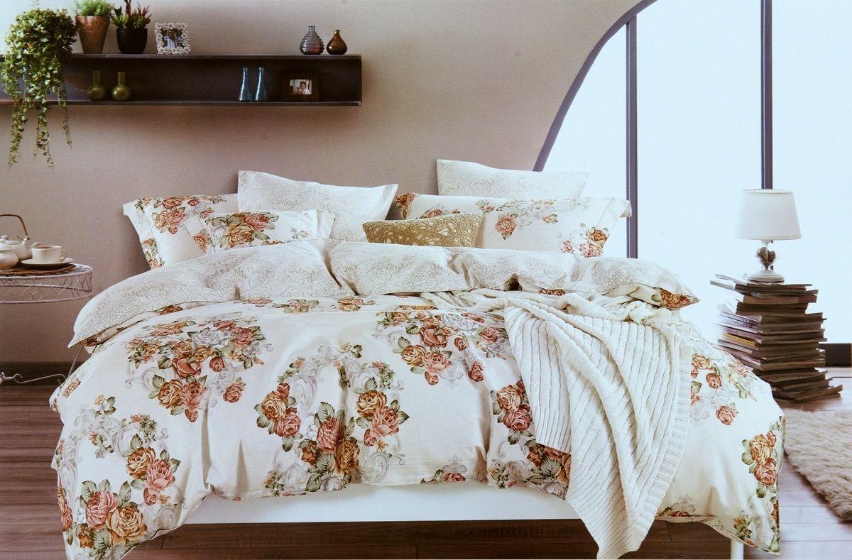 Комплект белья Modalin Florka, 2-спальный, наволочки 50х70, 70x70464/9Комплект постельного белья Modalin, выполненный из сатина (100% хлопка), создан для комфорта и роскоши. Комплект состоит из пододеяльника, простыни и 4 наволочек. Постельное белье оформлено цветочным орнаментом. Пододеяльник застегивается на пуговицы, что позволяет одеялу не выпадать из него. Сатин - хлопчатобумажная ткань полотняного переплетения, одна из самых красивых, прочных и приятных телу тканей, изготовленных из натурального волокна. Благодаря своей шелковистости и блеску сатин называют хлопковым шелком.