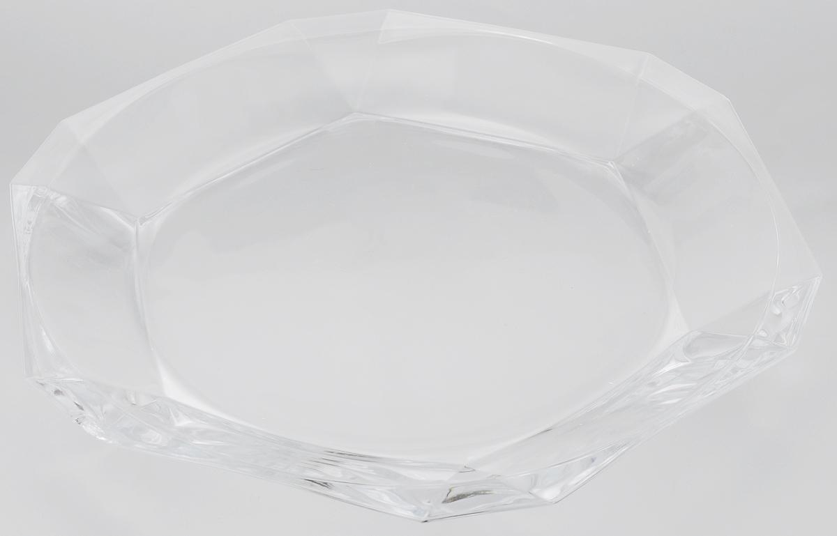 Тарелка Pasabahce Reflection, 30 х 32 см68197Тарелка Pasabahce Reflection выполнена из прозрачного высококачественного натрий-кальций-силикатного стекла, предназначена для красивой сервировки различных блюд. Известно каждому, что еда способна утолить голод, а вкусная еда - еще и приносить удовольствие. Но только став обладателем такой тарелки, можно понять, что еда - это еще и возможность создать себе прекрасное настроение. Размеры тарелки позволяют легко вместить даже самую большую порцию. Подходит для хранения в холодильнике. Можно мыть в посудомоечной машине. Размер тарелки: 30 х 35 см.