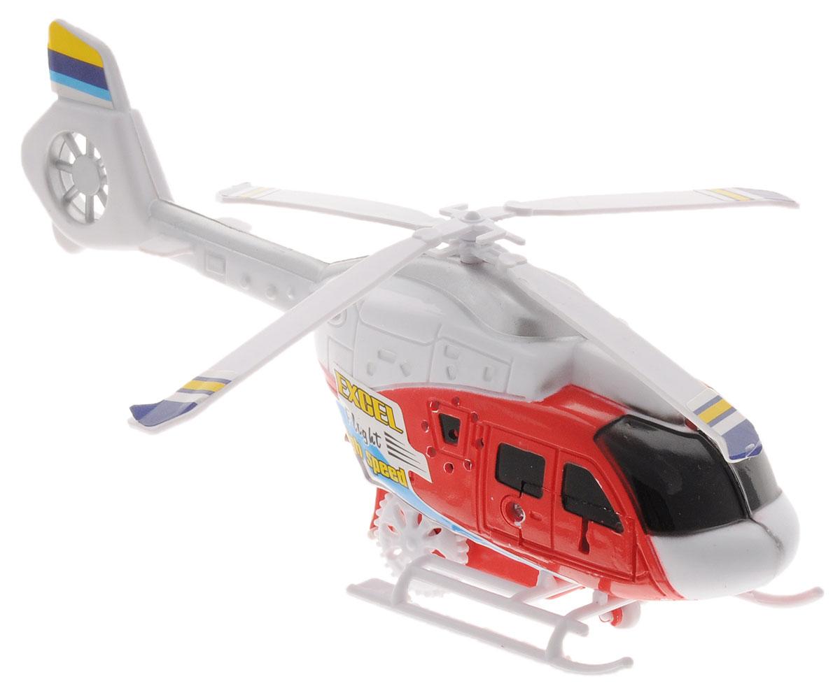 Junfa Toys Вертолет с пусковым устройством цвет красный белый