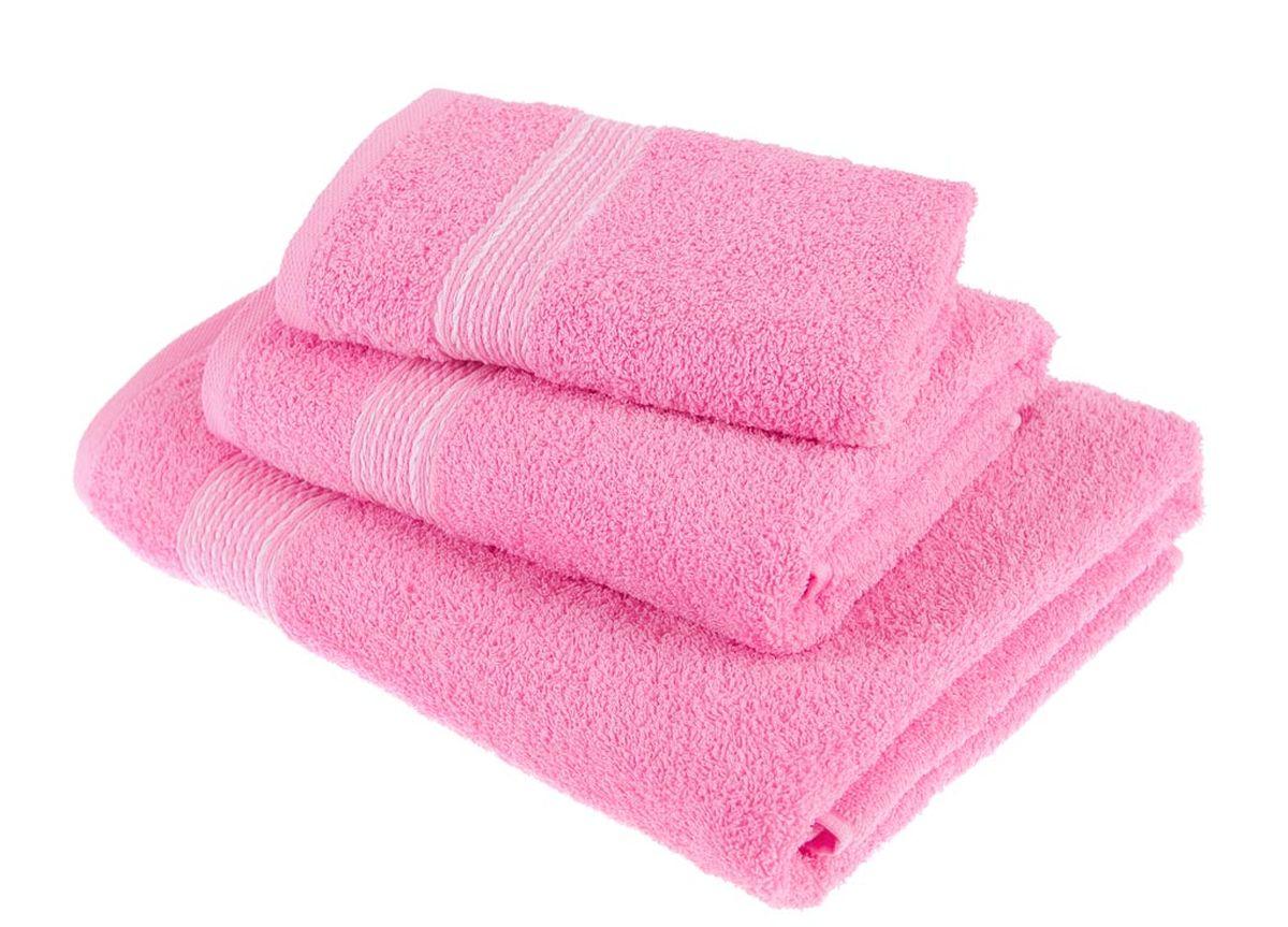 Набор полотенец Тако Текстиль, цвет: розовый, 3 шт. 8814510503Перед использованием постирать при температуре не выше 40 градусов