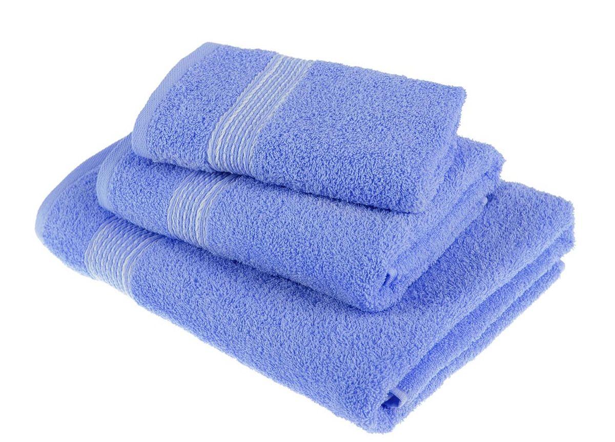 Набор полотенец Тако Текстиль, цвет: светло-синий, 3 шт. 8817488174Перед использованием постирать при температуре не выше 40 градусов