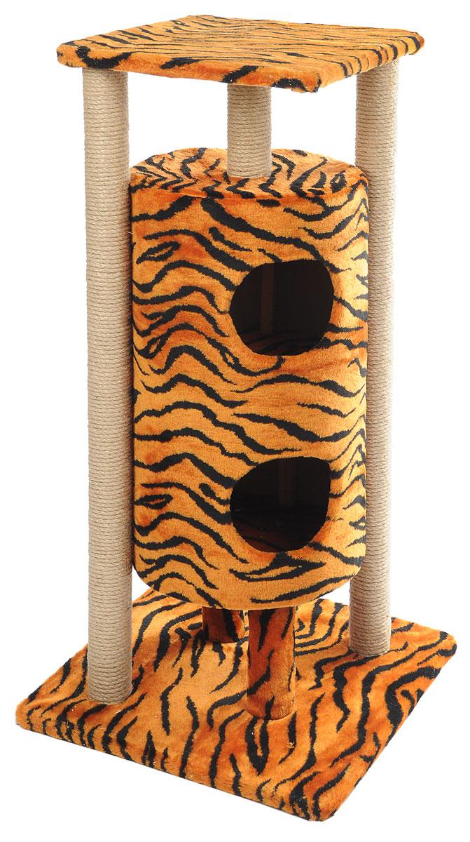 Домик-когтеточка Меридиан Ракета, 5-ярусный, цвет: черный, коричневый, 51 х 51 х 104 смД527ТДомик-когтеточка Меридиан Ракета выполнен из высококачественных материалов. Изделие предназначено для кошек. Уютный, домик имеет 5 ярусов. Изделие обтянуто искусственным мехом, а столбики изготовлены из джута. Ваш домашний питомец будет с удовольствием точить когти о специальные столбики. Второй и третий ярус выполнен в виде нор, где можно укрыться от посторонних глаз. Места хватит для нескольких питомцев. Домик-когтеточка Меридиан Ракета принесет пользу не только вашему питомцу, но и вам, так как он сохранит мебель от когтей и шерсти. Общий размер: 51 х 51 х 104 см. Размер нижней полки: 51 х 51 см. Размер верхней полки: 41 х 41 см. Высота двух домиков: 61 см. Диаметр домиков: 36 см.