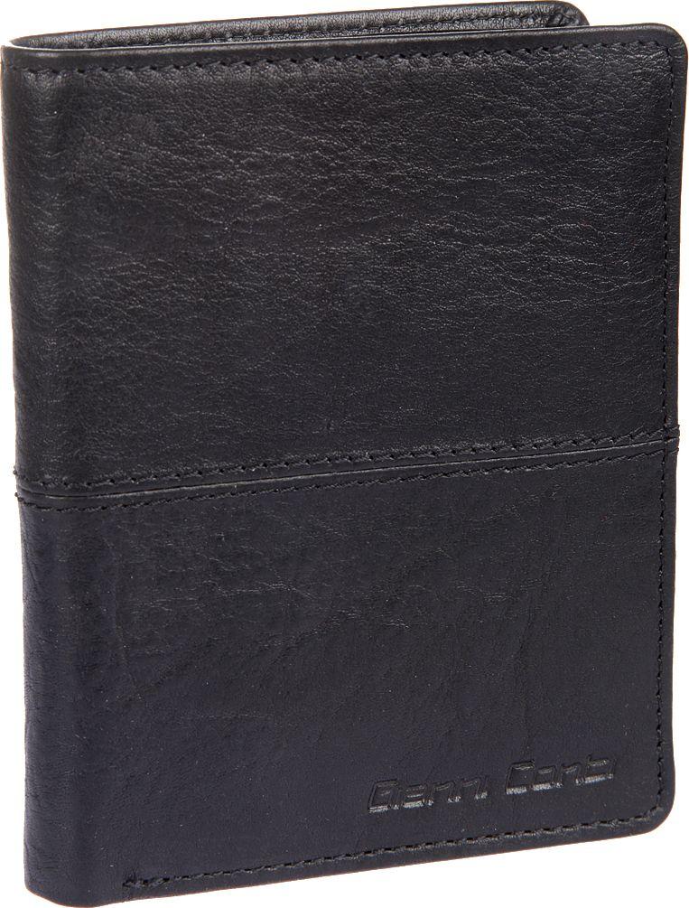 Портмоне мужское Gianni Conti, цвет: черный. 1137117EA16-11154_711Мужское портмоне Gianni Conti выполнено из натуральной кожи. Модель раскладывается пополам,внутри два отдела для купюр, карман для мелочи, закрывается клапаном на кнопке, потайной карман, сетчатый карман для пропуска, десять кармашков для пластиковых карт.