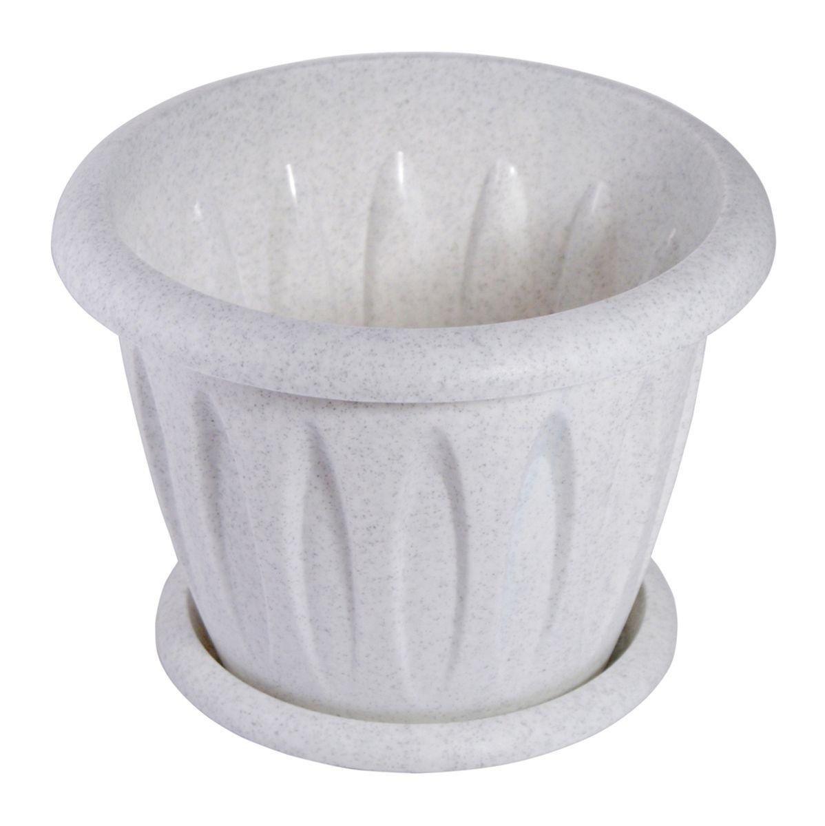 Горшок для цветов Martika Фелиция, с поддоном, цвет: мрамор, 900 мл531-321Горшок Martika Фелиция изготовлен из высококачественного пластика и оснащен поддоном для стока воды.Изделие прекрасно подойдет для выращивания растений дома и на приусадебных участках. Диаметр (по верхнему краю): 14,1 см.Высота: 10,9 см.