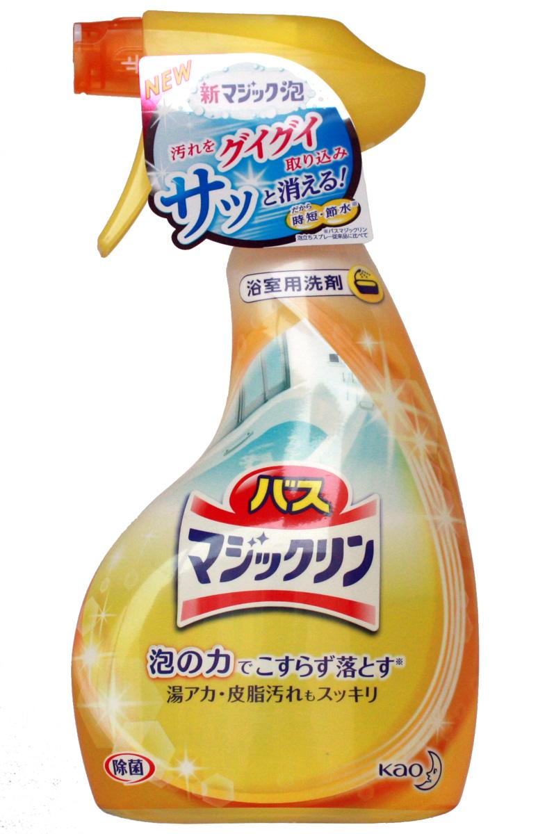 Средство пенящееся чистящее для ванной Magiclean, с распылителем, 380 мл4901301310224Используется при ежедневной уборке в ванной комнате. Средство очищает ванну, раковину, кафельную плитку от всех видов загрязнений. Средство устраняет плесень, ржавчину, въевшиеся загрязнения. Не использовать для мраморной поверхности (возможно использование на искусственной мраморной поверхности).