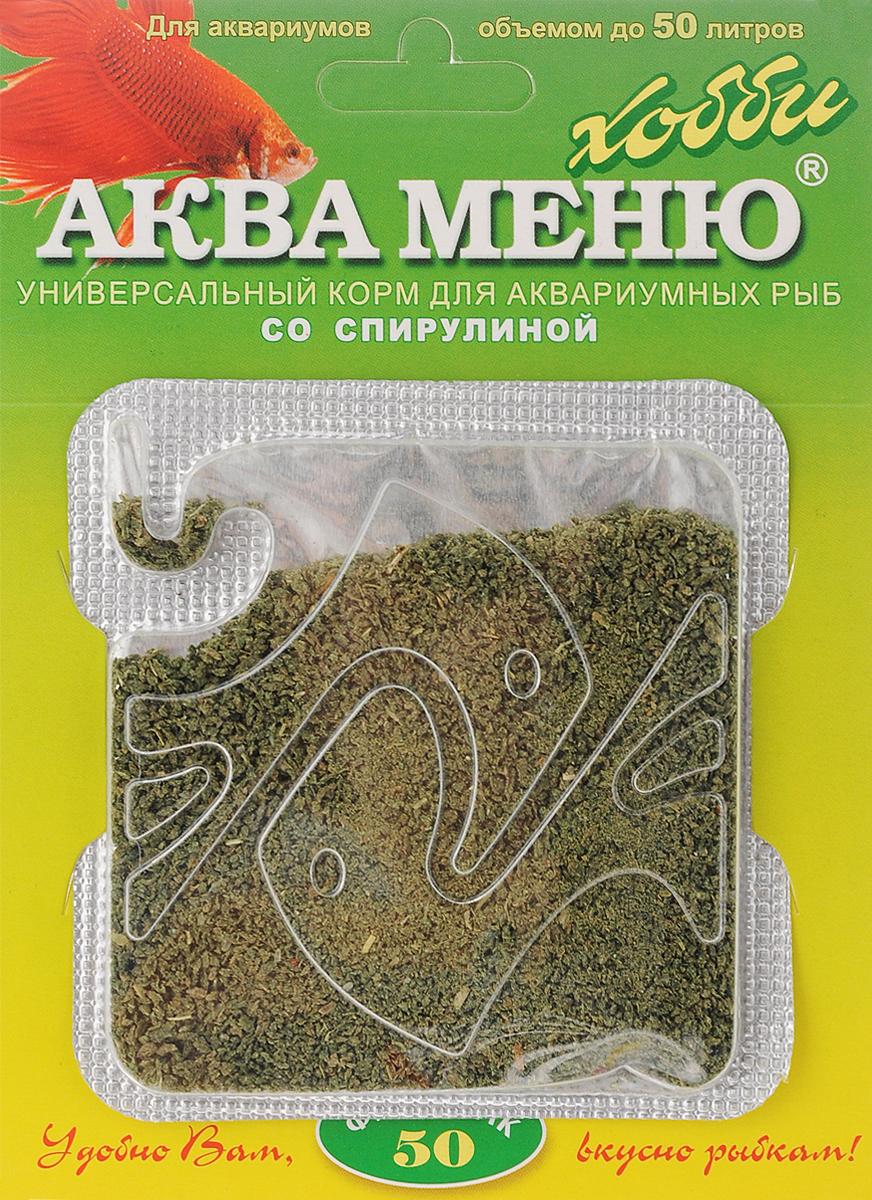 Корм Аква Меню Фитоклик-50 для рыб, со спирулиной, 6,5 г корм для рыб аква меню флора 2 с растительными добавками для рыб средних размеров 30 г