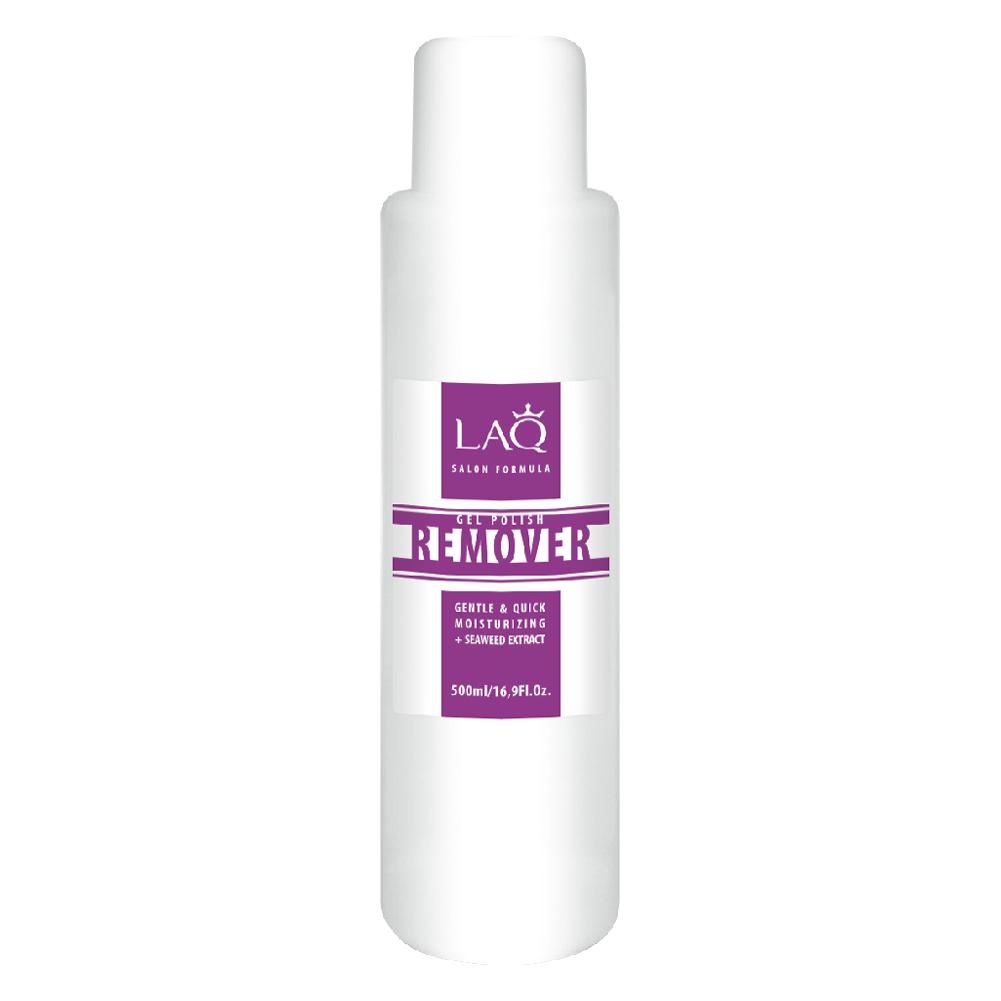LAQ Средство для снятия гель-лака GEL POLISH REMOVER Salon Formula прозрачный , 500 мл002722Средство для снятия гель-лака. Обогащенная формула легко и мягко удаляет гель-лак. Содержит уникальный увлажняющий комплекс. Не пересушивает ногтевую пластину, придает мягкость кутикуле. Экстракт морских водорослей содержит антиоксиданты, витамины и минералы. Это настоящий увлажняющий и энергитический коктейль для ногтей и кутикулы.