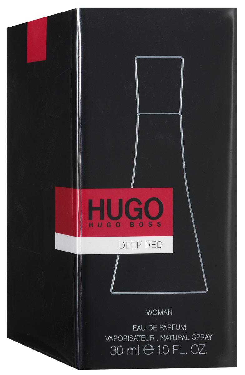 Hugo Boss Парфюмированная вода Deep Red, 30 мл0737052744131Аппетитный фруктовый аромат парфюмерной воды Hugo Boss Deep Red не оставит равнодушными любителей вкусненького. В меню свежие фруктовые ноты с легким акцентом пряностей - груша, черная смородина, мандарин, апельсин, шиповник, имбирь, ваниль, кедр и мускус. Изысканный аромат контрастов, в котором слились энергия и чувственность, сила и женственность. Осязаемая, чувственная фактура стекла флакона, его форма, напоминающая силуэт девушки в элегантном, красном платье. Оригинально и впечатляюще! Классификация аромата: фруктовый, цветочный. Пирамида аромата: верхние ноты - черная смородина, апельсин, клементин; ноты сердца - цветок джинджер-лили, имбирь, фрезия; ноты шлейфа - ваниль, мускус, сандал. Товар сертифицирован.