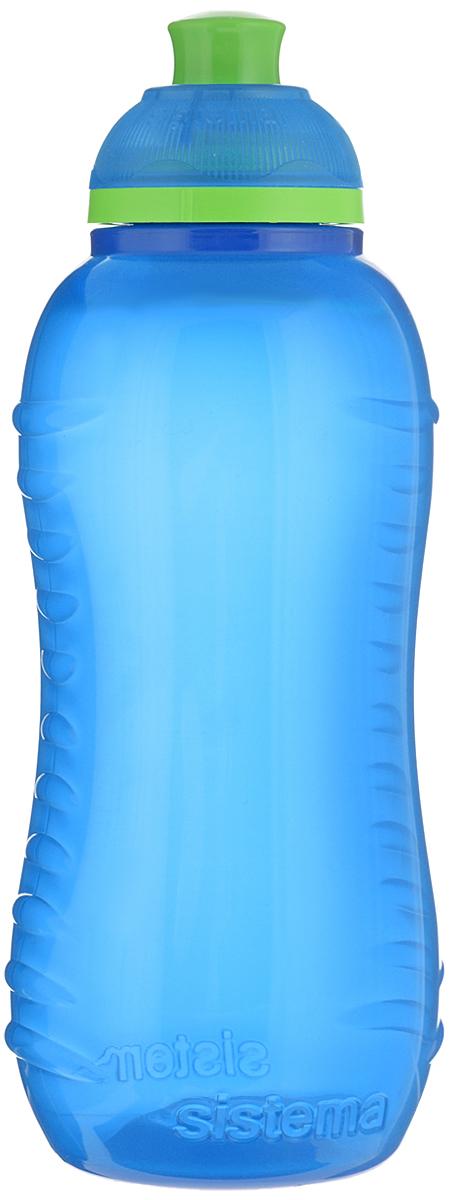 Бутылка для воды Sistema Twist n Sip, цвет: синий, 330 мл780NW_синийБутылка для воды Sistema Twist n Sip изготовлена из прочного пищевого пластика без содержания фенола и других вредных примесей. Рельефная поверхность бутылки со специальными выемками для удобного хвата. Бутылка имеет удобную запатентованную систему крышки Twist n Sip, которая предотвращает выливание жидкости и в то же время позволяет удобно пить напитки. С такой бутылкой Вы сможете где угодно насладиться Вашими любимыми напитками. Высота бутылки: 16 см.