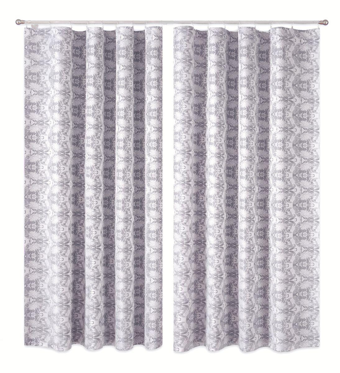 Комплект штор P Primavera Firany, цвет: серый, белый, высота 250 см. 11100131110013Комплект штор из полиэстровой жаккардовой ткани с пришитой шторной лентой. Размер - ширина 180 см высота 250см. Набор 2 штуки. Цвет серо-белый. Размер: ширина 180 х высота 250