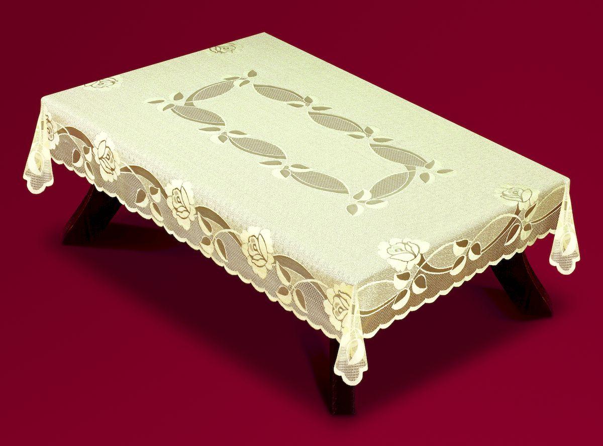 Скатерть Haft, прямоугольная, цвет: ванильный, 120 x 160 см. 5442054420/120Великолепная скатерть Haft, выполненная из полиэстера, органично впишется в интерьер любого помещения, а оригинальный дизайн удовлетворит даже самый изысканный вкус. Скатерть Haft создаст праздничное настроение и станет прекрасным дополнением интерьера гостиной, кухни или столовой.