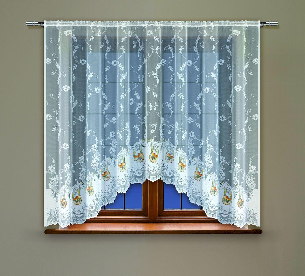 Гардина Haft, на кулиске, цвет: белый, высота 137 см. 208501208501/137Воздушная гардина Haft, выполненная из полиэстера, великолепно украсит любое окно. Изделие имеет оригинальный дизайн и органично впишется в интерьер помещения. Гардина крепится на карниз при помощи кулиски.