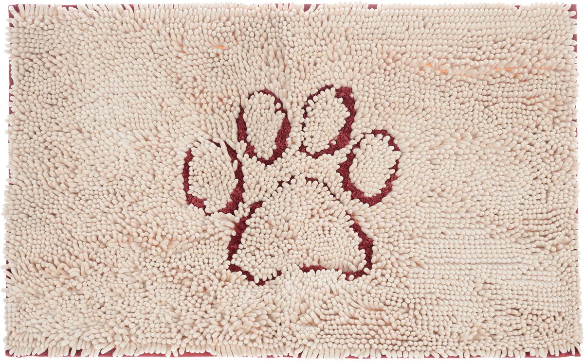 Коврик для собак Dog Gone Smart Doormat, супервпитывающий, цвет: бежевый, красный, 79 х 51 см107585Коврик для собак Dog Gone Smart Doormat впитывает воду и грязь в 15 раз больше своего веса. Пол остается чистым и сухим. Оптимальная плотность микрофибры позволяет абсорбировать лучше, чем любому другому коврику. Супер фиксирующая подложка на обратной стороне изделия помогает удерживать коврик на одном месте.