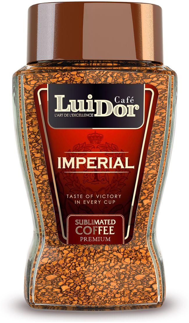 Luidor Imperial кофе растворимый сублимированный, 95 г0120710Кофе LUIDOR Imperial - это эксклюзивный купаж отборной колумбийской арабики сортов Supremo и Excelso.