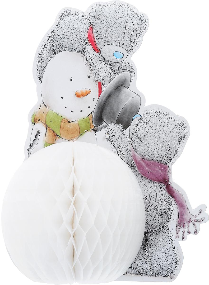 Украшение новогоднее Winter Wings Me To You. Мишка Тедди, высота 30 смMTY-N09005Новогоднее украшение Magic Time Me To You. Мишка Тедди прекрасно подойдет для праздничного декора вашего дома. Изделие выполнено из бумаги. Такое оригинальное украшение оформит интерьер вашего дома или офиса в преддверии Нового года. Оригинальный дизайн и красочное исполнение создадут праздничное настроение. Кроме того, это отличный вариант подарка для ваших близких и друзей. В комплект входит скребка для соединения объемной части украшения. Диаметр снеговика: 15 см