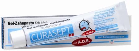 Curaden ADS 705 Паста зубная гелеобразная, 0,05% хлоргексидина (75 мл)ADS705Оказывает сильное антибактериальное действие. Снижает образование зубного налета. Рекомендуется для пациентов с ортопедическими конструкциями, а также пациентам, страдающим кариесом. Система АДС препятствует окрашиванию зубной эмали и слизистой, не вызывает раздражения, не изменяет вкусовых ощущений. Противопоказания: Повышенная чувствительность к компонентам препарата. Аллергические реакции. Регулярно консультируйтесь с врачом о необходимости продления срока применения. Особые примечания: Не глотать. Только для наружного применения. Применять под контролем врача-стоматолога. Хранить в недоступном для детей месте. Номинальное количество: 75 мл