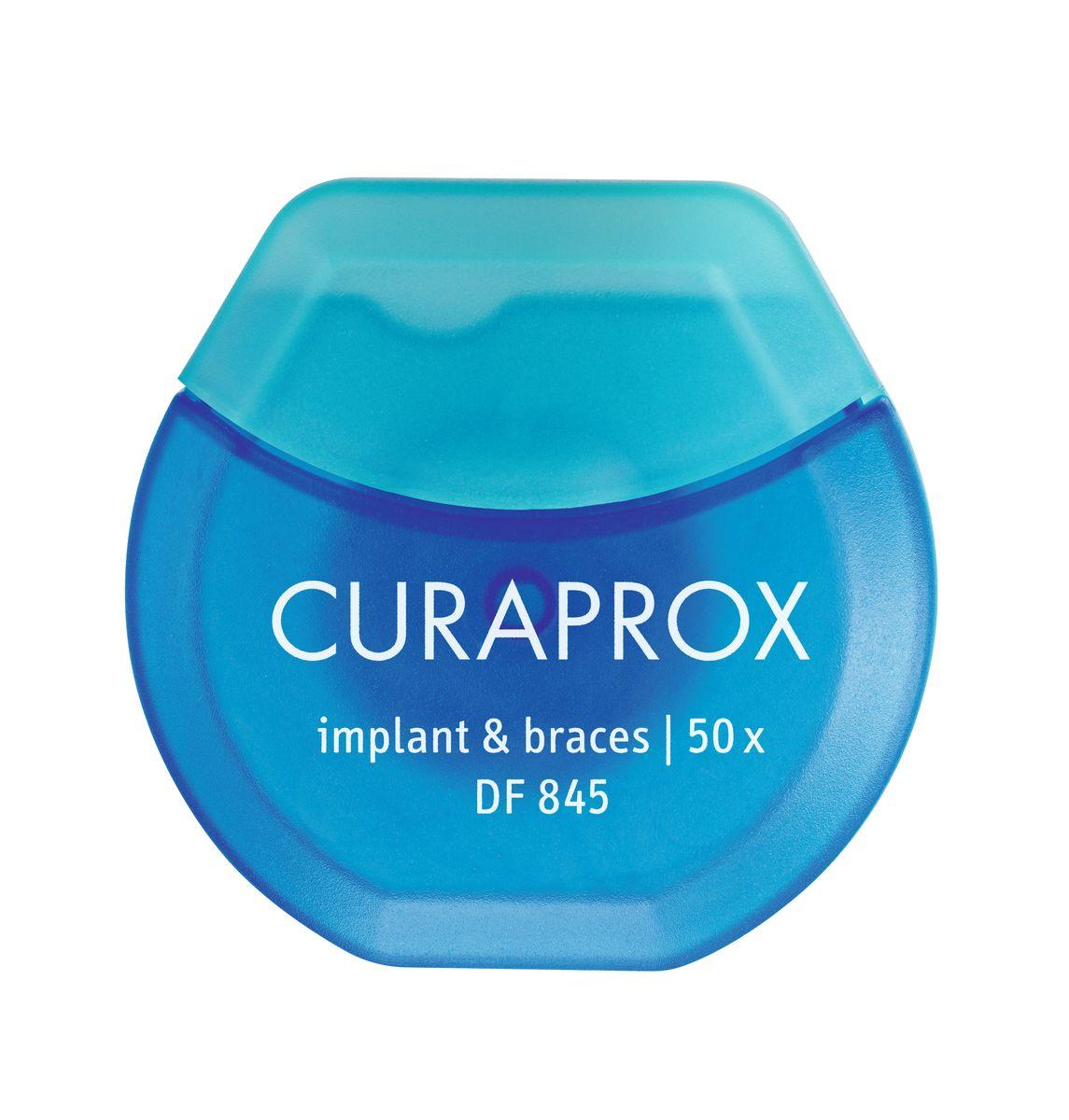 Curaprox DF 845 Нить межзубная нейлоновая implant & braces (50 шт)DF845Назначение: очищение межзубных промежутков у пациентов с имплантами и брекетами. Рекомендации: использовать ежедневно после приема пищи, минимум 1 раз в день. Состав: