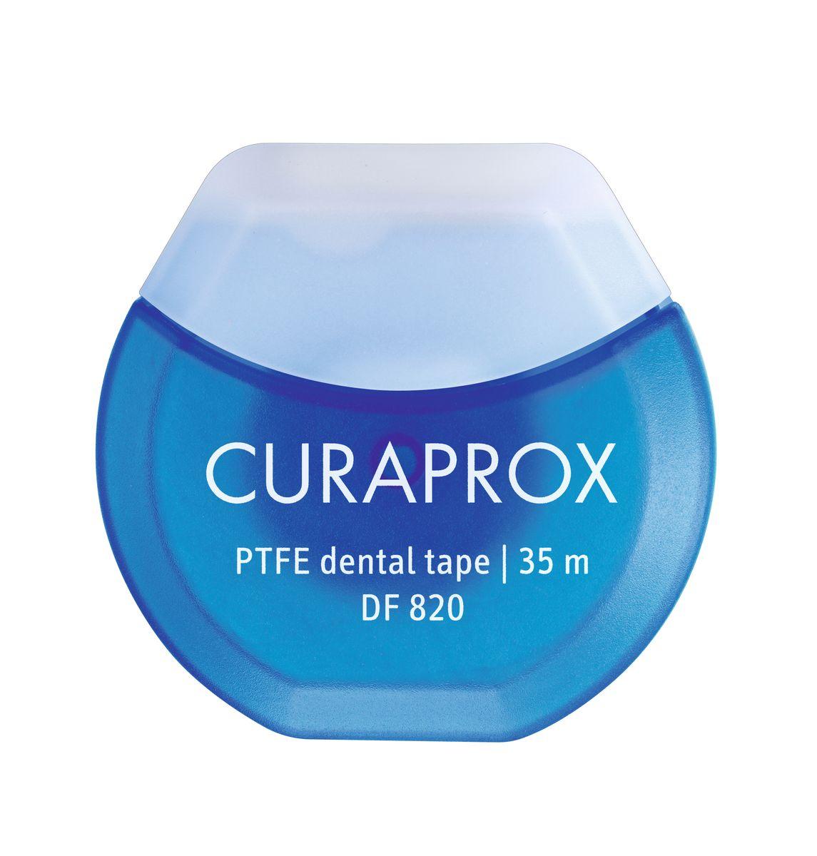 Curaprox DF 820 Нить межзубная тефлоновая с хлоргексидином, 35 м