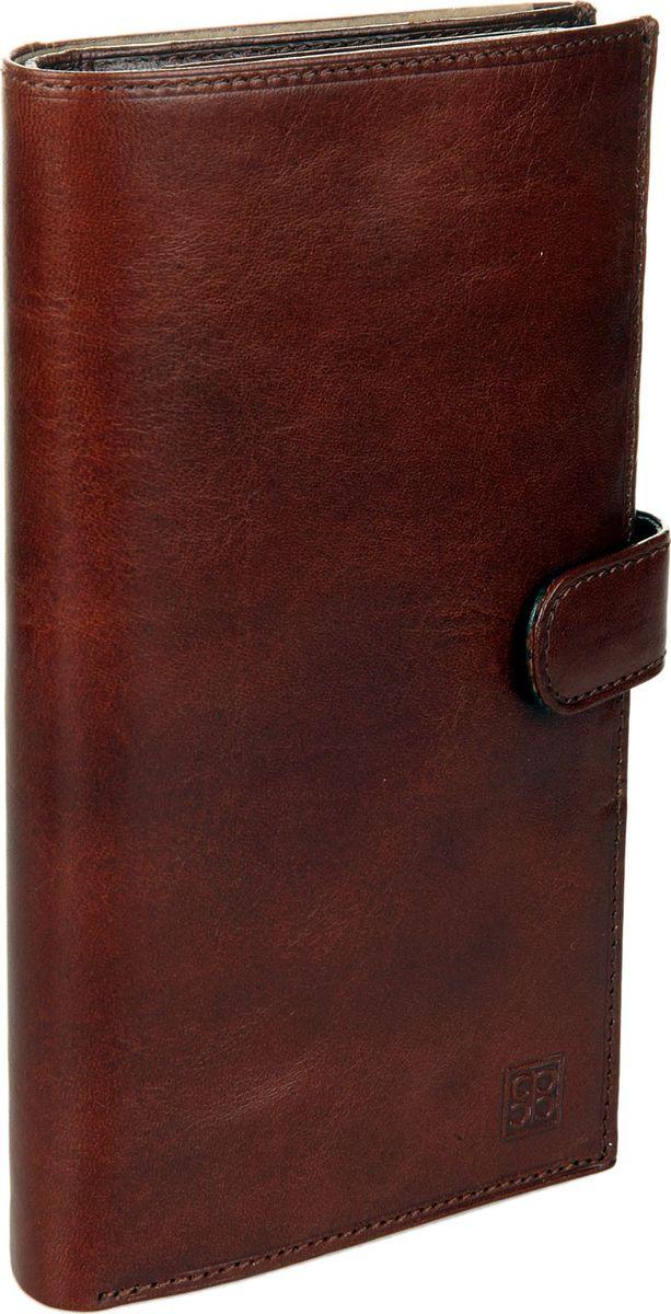 Портмоне мужское Sergio Belotti, цвет: коричневый. 1463A16-11154_711Мужское портмоне Sergio Belotti выполнено из натуральной кожи. Модель закрывается клапаном на кнопке. Внутри один отдел для купюр, отделение для мелочи закрывается на кнопку, четыре потайных кармана, один карман на молнии, два сетчатых кармана для пропуска, одно сетчатое отделение, семь карманов для пластиковых карт.