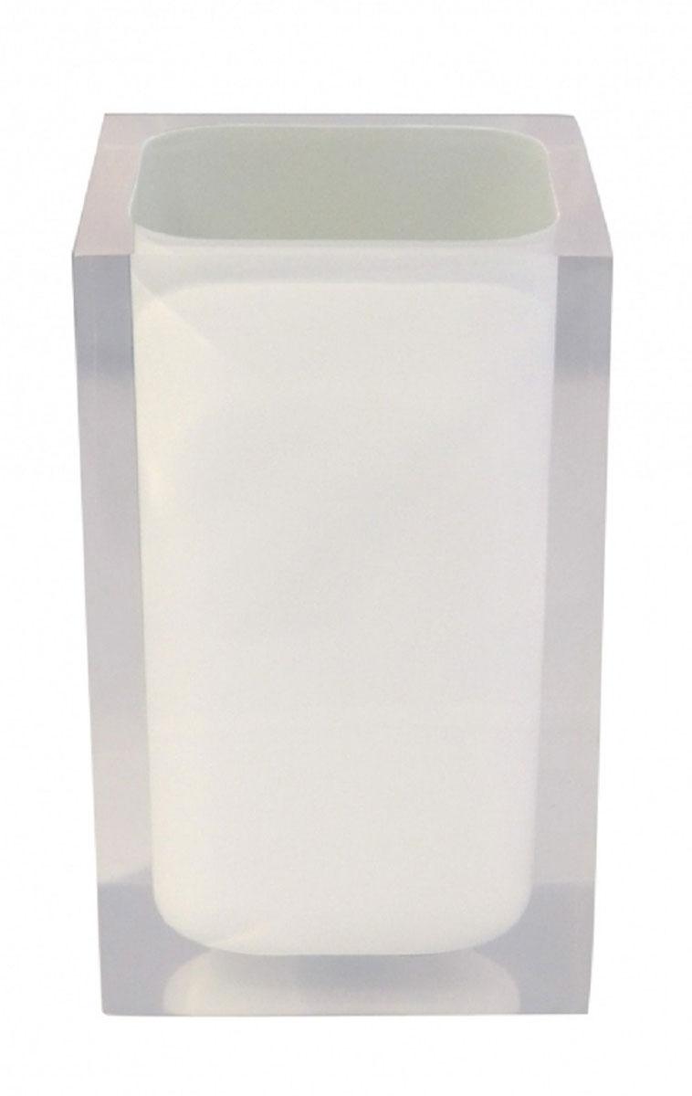 Стакан для ванной комнаты Ridder Colours, цвет: белый22280101Изделия данной серии устойчивы к ультрафиолету, т.к. изготавливаются из полирезина. Экологичный полирезин - это твердый многокомпонентный материал на основе синтетической смолы, с добавлением каменной крошки и красящих пигментов.
