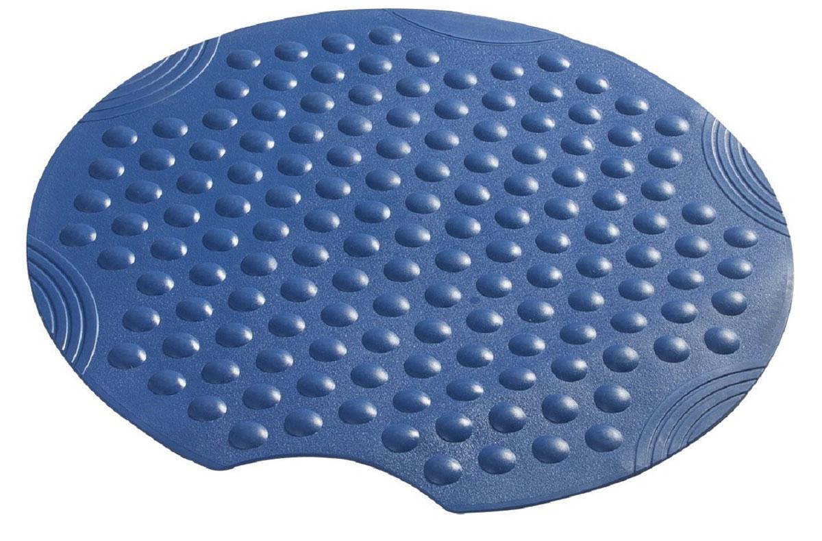 Коврик для ванной Ridder Tecno+, противоскользящий, на присосках, цвет: синий, диаметр 55 смА6800233Высококачественные немецкие коврики Tecno+ созданы для вашего удобства. Состав и свойства противоскользящих ковриков: синтетический каучук с защитой от плесени и грибка, не содержит ПВХ. Имеются присоски для крепления. Безопасность изделия соответствует стандартам LGA (Германия).