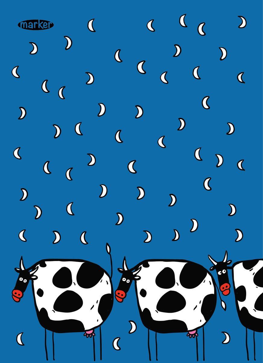 Marker Записная книжка Коровы 40 листов в клеткуM-1580640N-1Записная книжка на скрепках Marker Коровы отлично подойдет для различных записей. Дизайнерская обложка выполнена из высококачественного картона. Внутренний блок состоит из 40 листов в клетку и оформлен рисунками.