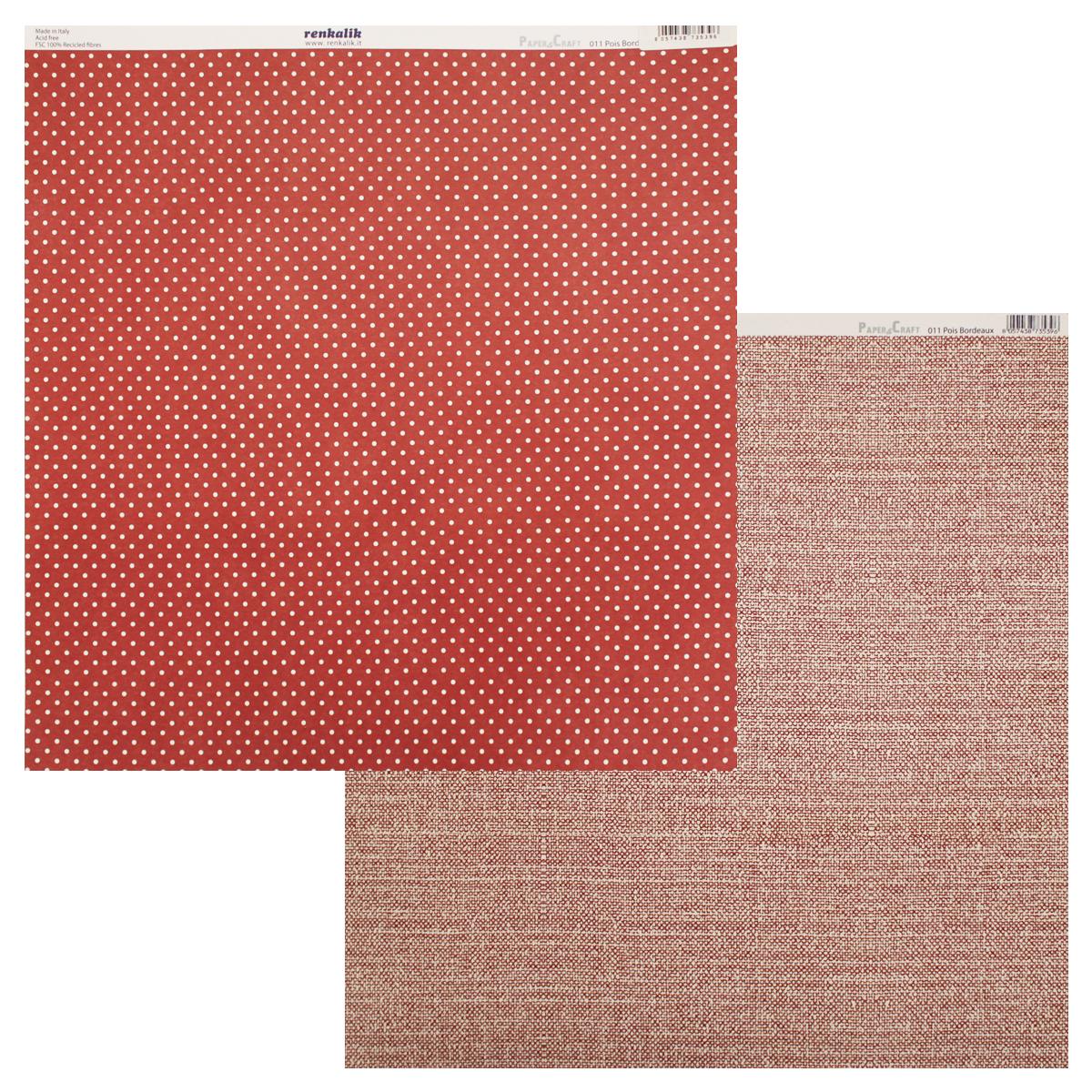 Бумага для скрапбукинга Renkalik Точки. Ткань, двухсторонняя, 30,5 х 30,5 см. CS3050117716529