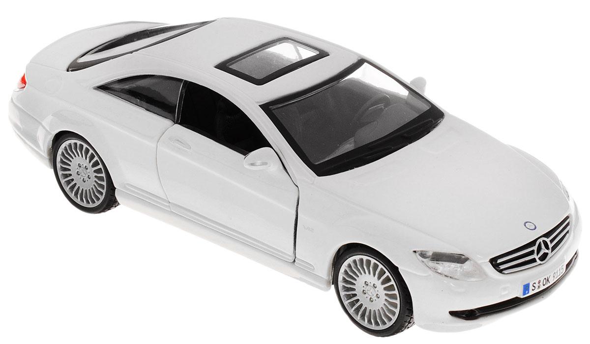 Bburago Модель автомобиля Mercedes-Benz CL 550 цвет белый модель автомобиля bburago mercedes amg c coupe dtm масштаб 1 32