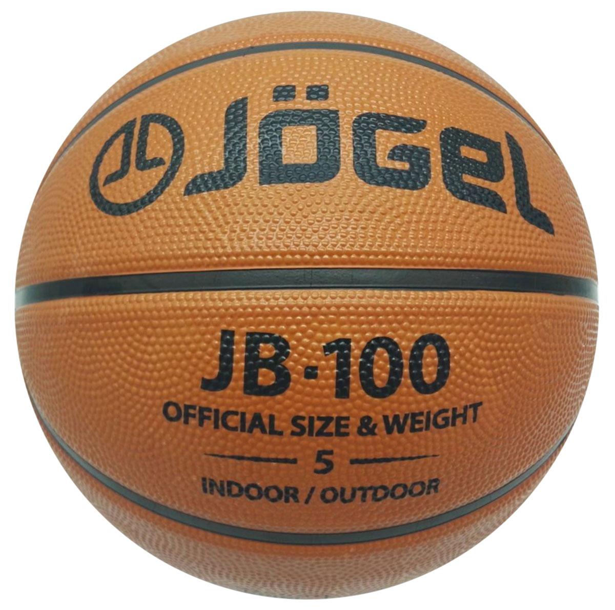 Мяч баскетбольный Jogel, цвет: коричневый. Размер 5. JB-100УТ-00009267Название: Мяч баскетбольный Jgel JB-100 №5 Уровень: Тренировочный мяч Категория: INDOOR/OUTDOOR Описание: Jogel JB-100 №5 это классический резиновый баскетбольный мяч, самая популярная модель для уличного баскетбола, учебных заведений и СДЮШ. Поверхность мяча выполнена из износостойкой резины, благодаря чему данным мячом можно играть практически на любой поверхности, как на улице, так и в зале. Благодаря технологии DeepChannel (глубокие каналы), используемой при производстве мячей Jogel, достигается лучший контроля мяча во время броска и дриблинга. Размер №5 предназначается для тренировок детей до 12 лет. Данный мяч рекомендован для любительской игры, тренировок любительских команд и команд среднего уровня. Данный мяч прекрасно подходит для поставок на гос. тендеры, образовательные учреждения и спортивные секции. Официальный размер и вес FIBA. Рекомендованные покрытия: Паркет, резина, бетон, асфальт Материал поверхности: Износостойкая резина Материал камеры: Бутил Тип соединения...