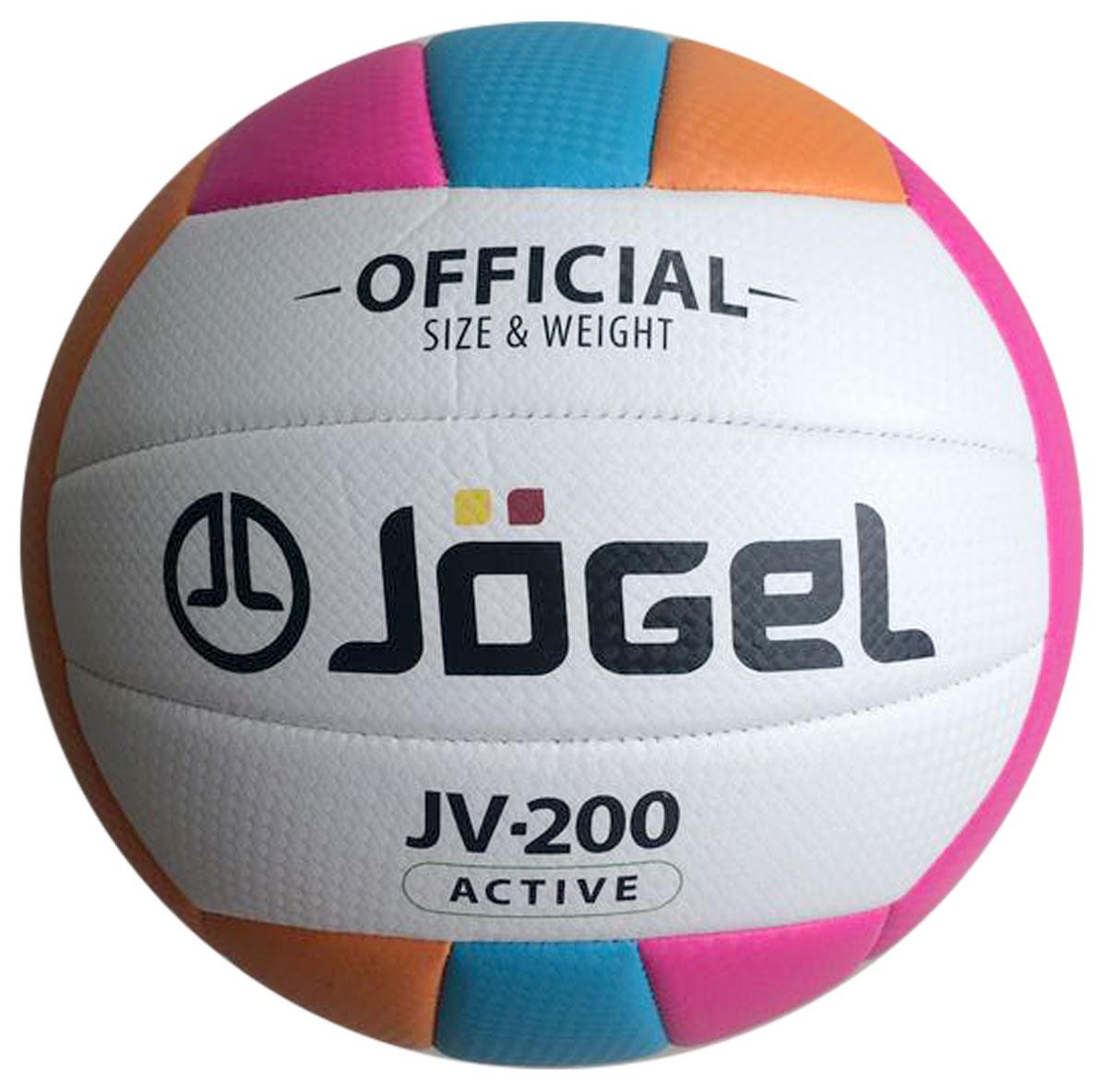 Мяч волейбольный Jogel, цвет: голубой, оранжевый, розовый. Размер 5. JV-200УТ-00009339Название: Мяч волейбольный Jgel JV-200 Уровень: Любительский мяч Серия: ACTIVE Описание: Jogel JV-200 яркий любительский мяч для классического волейбола и активного отдыха. Благодаря своей молодежной расцветке и еще более мягкой поверхности, чем у модели JV-100, данная модель пользуется популярностью в качестве мяча для пляжного волейбола. Поверхность мяча выполнена из текстурной мягкой синтетической кожи (поливинилхлорид) с увеличенной толщиной, что позволяет избежать синяков и ушибах на руках, даже при сильных ударах. Мяч состоит из 18-ти панелей и оснащен бутиловой камерой. Данный мяч подходит для поставок на гос. тендеры, образовательные учреждения и спортивные секции. Официальный размер и вес FIBV. Рекомендованные покрытия: Паркет, песок, резина, гаревые поля, бетон Материал покрышки: Синтетическая кожа (поливинилхлорид) Материал камеры: Бутил Тип соединения панелей: Машинная сшивка Количество панелей: 18 Размер: 5 Вес: 260-280 гр. Длина окружности: 65-67 см Рекомендованное...