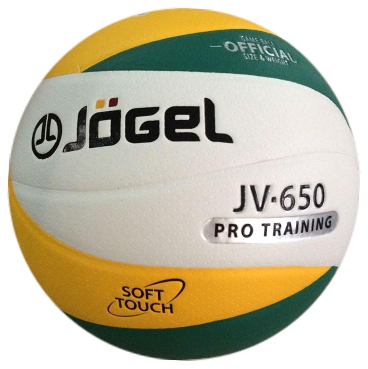 Мяч волейбольный Jogel, цвет: зеленый, желтый. Размер 5. JV-650УТ-00009345Название: Мяч волейбольный Jgel JV-650 Уровень: Тренировочно-игровой мяч Серия: PRO TRAINING Описание: Jogel JV-650 клееный волейбольный мяч из новой Коллекции 12-панельных мячей Jogel, серия PRO TRAINING. Уникальный дизайн панелей, новинка на российском рынке! Данная модель предназначена для профессиональных тренировок, благодаря чему обладает всеми необходимыми характеристиками для интенсивных занятий. Поверхность мяча выполнена из мягкой высококачественной синтетической кожи (полиуретан), с применением технологии Soft Touch, имитирующей по ощущениям натуральную кожу и обеспечивающей правильный отскок. Помимо этого, поверхность мяча обработана по технологии Dimple - микроуглубления на поверхности мяча, которые обеспечивают лучший контроль, мяч меньше скользит. Мяч состоит из 12-ти панелей, оснащен бутиловой камерой и армирован подкладочным слоем из ткани. Рекомендован для тренировок команд среднего и высокого уровня, а также соревнований любительских и средних команд. Данный мяч...