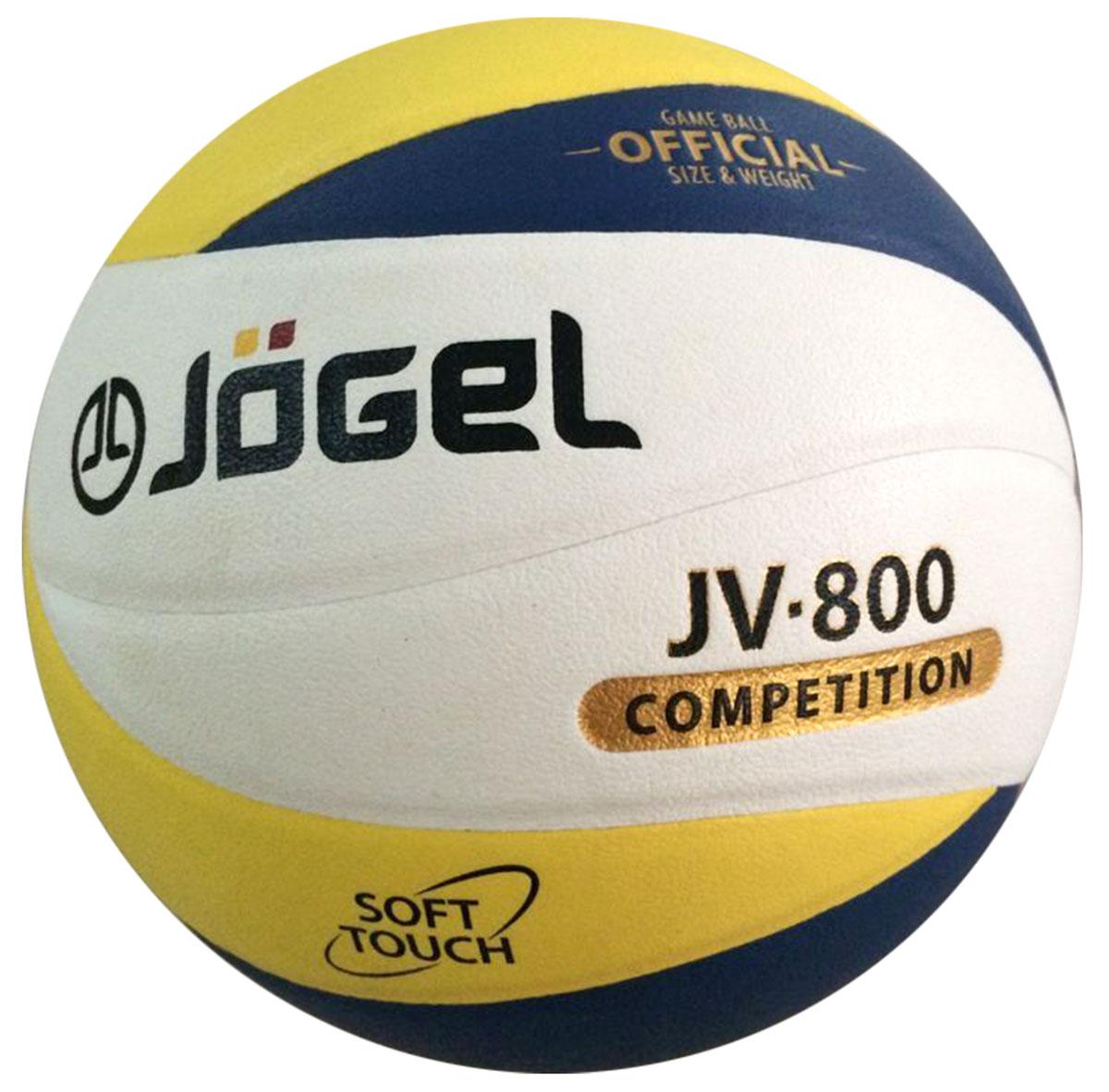 Мяч волейбольный Jogel, цвет: синий, желтый. Размер 5. JV-800УТ-00009346Название: Мяч волейбольный Jgel JV-800 Уровень: Матчевый мяч Серия: COMPETITION Описание: Jogel JV-800 великолепный волейбольный мяч из новой Коллекции 12-панельных мячей Jogel, серия COMPETITION (соревновательный). Топовый мяч коллекции Jogel, вобравший в себя все лучшие технологии для комфортных тренировок и игр команд любого уровня. Поверхность мяча выполнена из высокотехнологичного композитного материала на основе микрофибры, с применением технологии Soft Touch, имитирующей по ощущениям натуральную кожу и обеспечивающей правильный отскок. Мяч состоит из 12-ти панелей, оснащен бутиловой камерой и армирован подкладочным слоем из ткани. Рекомендован для тренировок и соревнований команд высокого уровня. Данный мяч подходит для поставок на гос. тендеры, образовательные учреждения и спортивные секции. Официальный размер и вес FIBV. Рекомендованные покрытия: Паркет, песок Материал покрышки: Композитный материал (микрофибра) Материал камеры: Бутил Тип соединения панелей: Клееный ...