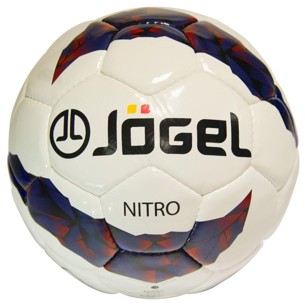 Мяч футбольный Jogel Nitro, цвет: белый, синий, бордовый, черный. Размер 5. JS-700УТ-00009477Название: Мяч футбольный Jgel JS-700 Nitro №5 Категория: Тренировочный мяч Коллекция: 2016/2017 Описание: Jogel JS-700 Nitro превосходный мяч ручной сшивки тренировочного уровня, имеющий более плотный материал покрышки, чем у мяча Jogel JS-500 Derby, благодаря чему обеспечивается более мягкий контакт и максимальная прочность. Данный мяч рекомендован для тренировок и тренировочных игр клубных и любительских команд. Поверхность мяча выполнена из глянцевой синтетической кожи (полиуретан) толщиной 1,2 мм. Мяч имеет 4 подкладочных слоя на нетканой основе (смесь хлопка с полиэстером) и оснащен латексной камерой с бутиловым ниппелем, обеспечивающим долгое сохранение воздуха в камере. Уникальной особенностью бренда Jogel является традиционная конструкция мячей из 30 панелей. Привлекательный дизайн Коллекции 2016/2017 ярко выделяет мячи Jogel на витрине. Данный мяч подходит для поставок на гос. тендеры. При производстве мячей Jogel не используется детский труд. Официальный размер и вес FIFA....