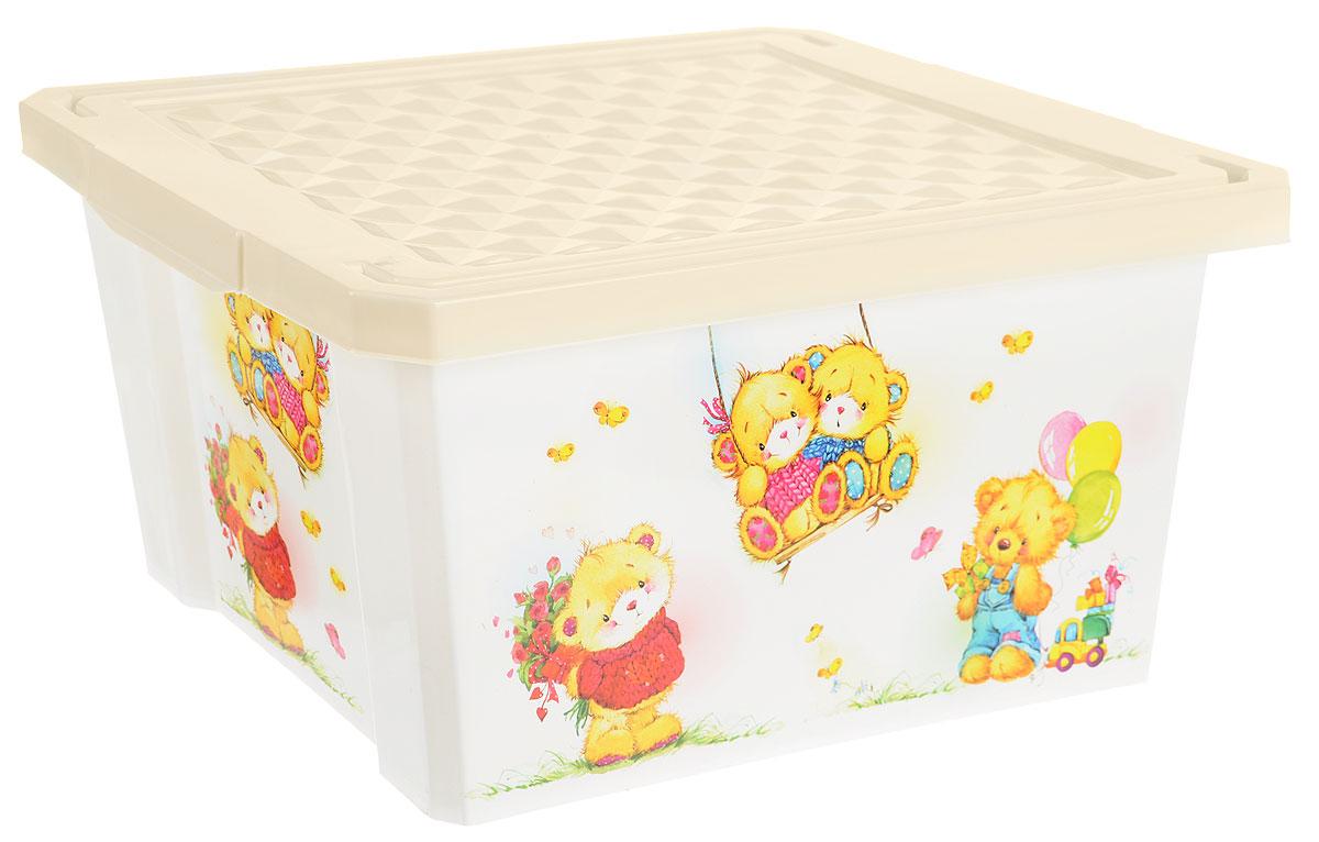 Little Angel Детский ящик для хранения игрушек X-BOX Bears 17 л цвет слоновая кость белыйLA1023IR_дизайн 3Детский ящик для хранения игрушек Little Angel X-BOX Bears - лучшее решение для поддержания порядка в детской. Все игрушки собраны в одном месте, а небольшой ящик всегда можно с легкостью переместить. Яркие картинки наполнят детскую радостью и помогут приучить малыша к порядку. Детский ящик для хранения игрушек имеет надежную крышку с привлекательной текстурой. Декор размещен на всех сторонах ящика.