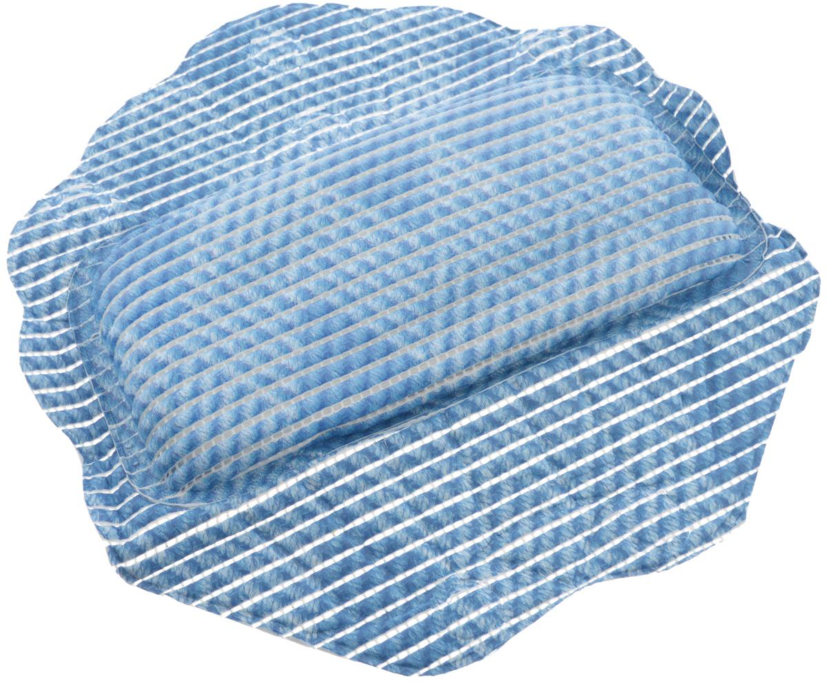 Подушка для ванны Fresh Code Flexy, на присосках, цвет: синий, 33 х 33 см55764_рисунок2Подушка для ванны Fresh Code Flexy обеспечивает комфорт во время принятия ванны. Крепится на поверхность ванной с помощью присосок. Выполнена из ПВХ.