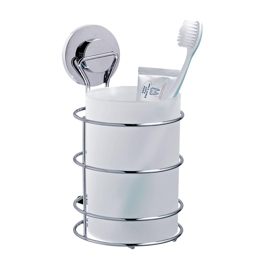 Стакан для ванной комнаты Tatkraft Wild Power, большой, настенный17153Стакан для ванной комнаты Tatkraft Wild Power, изготовленный из матового пластика, крепится к стене при помощи стального хромированного держателя на вакуумной присоске. Оригинальная патентованная система вакуумной присоски доработана с учетом природных особенностей гигантского осьминога Дофлейна. Быстро и надежно устанавливается на любой воздухонепроницаемой поверхности: плитка, стекло, металл и др. В случае необходимости изделие легко можно перевесить, поддев присоску острым предметом. Стакан для ванной комнаты Tatkraft Wild Power прекрасно подойдет к интерьеру ванной комнаты.