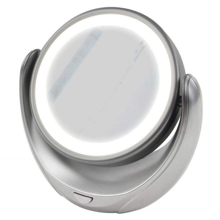 Marta MT-2653, Grey Pearl зеркало с подсветкойБ33041Marta MT-2653 - стильное и элегантное настольное зеркало с подсветкой и пятикратным увеличением отражения одной из поверхностей. Идеально подходит для тщательного нанесения макияжа и ухода за кожей лица. Зеркало позволяет изменять угол наклона для достижения максимального удобства, а также имеет две зеркальные стороны, одна из которых обладает свойством пятикратного увеличения отражения, что особенно важно при кропотливой работе с участками лица, требующими наиболее тщательного внимания. Круговая подсветка по контуру зеркала Marta MT-2653 нормализует и выравнивает освещение, позволяя детально разглядеть все нюансы отражения. Для полноценной работы зеркала используются распространенные элементы питания типа АА на 1,5 В, одного комплекта которых хватит на длительный срок эксплуатации. Простота использования и очистки, функциональность, сопровождающаяся особым комфортом, делают настольное зеркало незаменимым аксессуаром для ухода за лицом и в домашних условиях, и в путешествии.