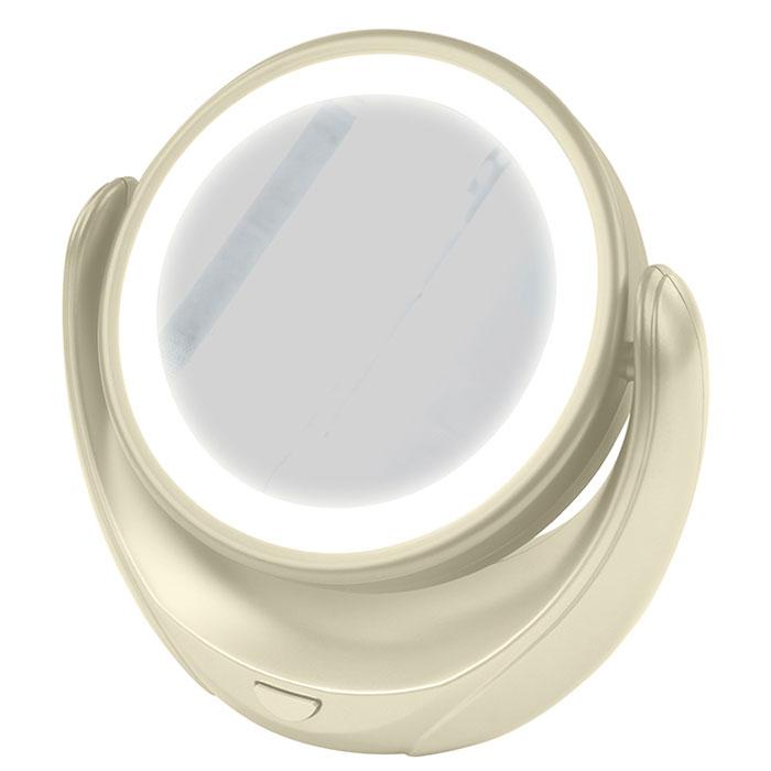 Marta MT-2653, Milky Pearl зеркало с подсветкойMT-2653Marta MT-2653 - стильное и элегантное настольное зеркало с подсветкой и пятикратным увеличением отражения одной из поверхностей. Идеально подходит для тщательного нанесения макияжа и ухода за кожей лица. Зеркало позволяет изменять угол наклона для достижения максимального удобства, а также имеет две зеркальные стороны, одна из которых обладает свойством пятикратного увеличения отражения, что особенно важно при кропотливой работе с участками лица, требующими наиболее тщательного внимания. Круговая подсветка по контуру зеркала Marta MT-2653 нормализует и выравнивает освещение, позволяя детально разглядеть все нюансы отражения. Для полноценной работы зеркала используются распространенные элементы питания типа АА на 1,5 В, одного комплекта которых хватит на длительный срок эксплуатации. Простота использования и очистки, функциональность, сопровождающаяся особым комфортом, делают настольное зеркало незаменимым аксессуаром для ухода за лицом и в домашних условиях, и в...