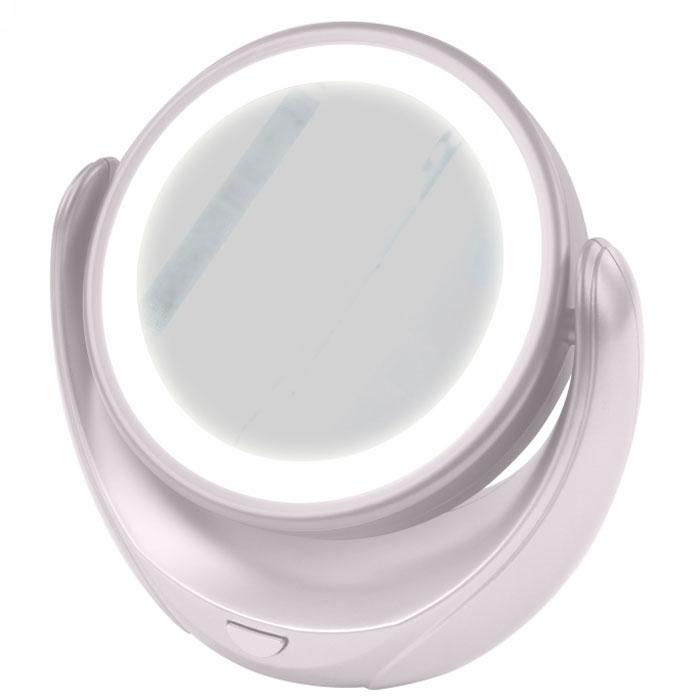 Marta MT-2653, White Pearl зеркало с подсветкойMT-2653Marta MT-2653 - стильное и элегантное настольное зеркало с подсветкой и пятикратным увеличением отражения одной из поверхностей. Идеально подходит для тщательного нанесения макияжа и ухода за кожей лица. Зеркало позволяет изменять угол наклона для достижения максимального удобства, а также имеет две зеркальные стороны, одна из которых обладает свойством пятикратного увеличения отражения, что особенно важно при кропотливой работе с участками лица, требующими наиболее тщательного внимания. Круговая подсветка по контуру зеркала Marta MT-2653 нормализует и выравнивает освещение, позволяя детально разглядеть все нюансы отражения. Для полноценной работы зеркала используются распространенные элементы питания типа АА на 1,5 В, одного комплекта которых хватит на длительный срок эксплуатации. Простота использования и очистки, функциональность, сопровождающаяся особым комфортом, делают настольное зеркало незаменимым аксессуаром для ухода за лицом и в домашних условиях, и в...