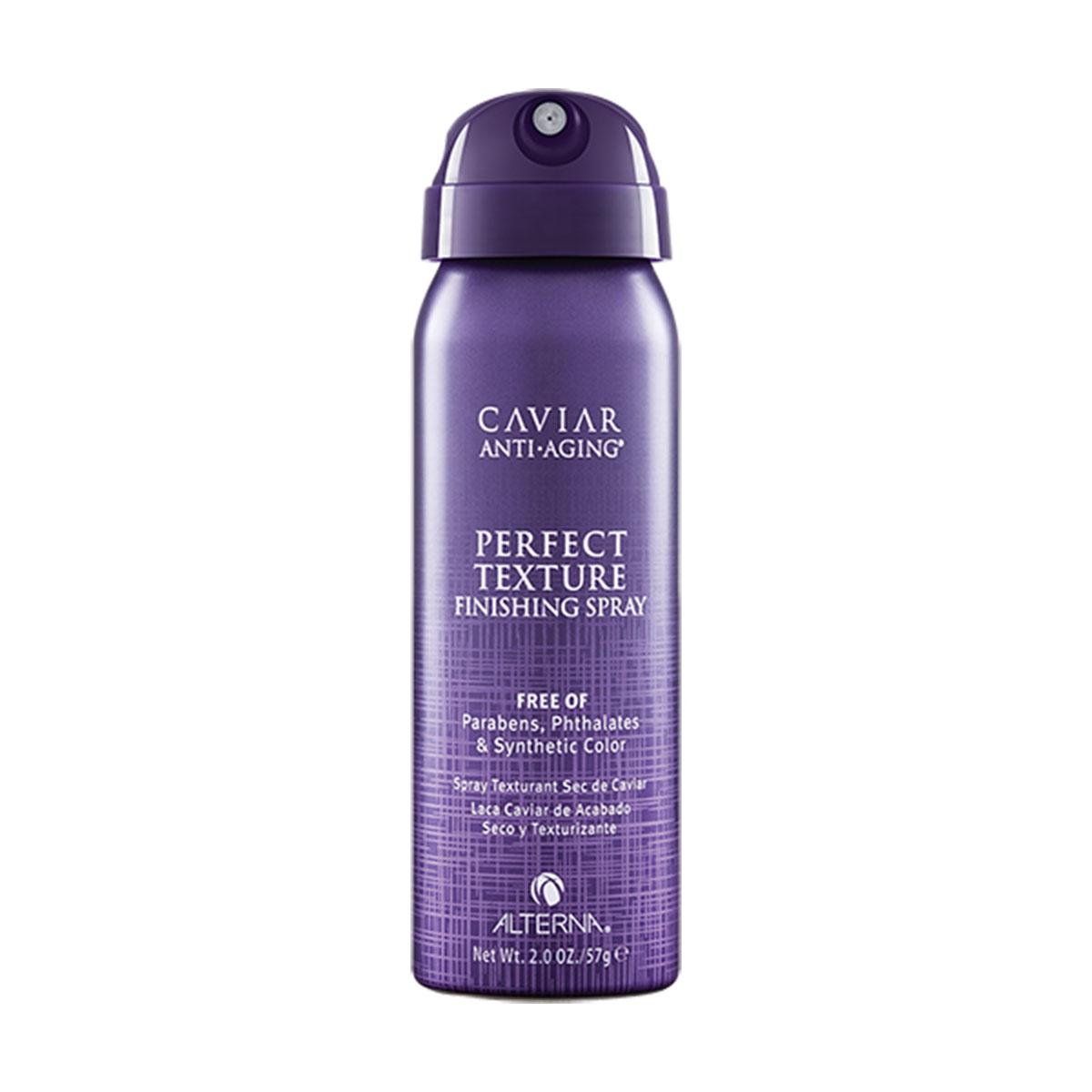 Alterna Caviar Anti-Aging Perfect Texture Finishing Spray - Спрей Идеальная текстура волос 50 мл4605845001449Спрей «Идеальная текстура волос» - это сочетание сухого шампуня и лака для волос. Этот спрей создает объем, форму и текстуру, не оставляя белых следов, как сухой шампунь и не утяжеляя, как лак для волос. Его можно использовать на всех типах волос дома или после сушки феном, чтобы добавить объем и текстуру волосам.Преимущества: Дает ощущение легких, чистых, не склеенных волос. Не оставляет белых следов и не утяжеляет. Можно наносить как немного продукта, так и больше без утяжеления и ощущения «липких» волос . Не спутывает волосы.Результат: умопомрачительная текстура, создает объем и плотность. Волосы приобретают трёхмерную текстуру, форму и остаются естественно подвижными.Спрей «Идеальная текстура волос» - это сочетание сухого шампуня и лака для волос. Этот спрей создает объем, форму и текстуру, не оставляя белых следов, как сухой шампунь и не утяжеляя, как лак для волос. Его можно использовать на всех типах волос дома или после сушки феном, чтобы добавить объем и текстуру волосам.