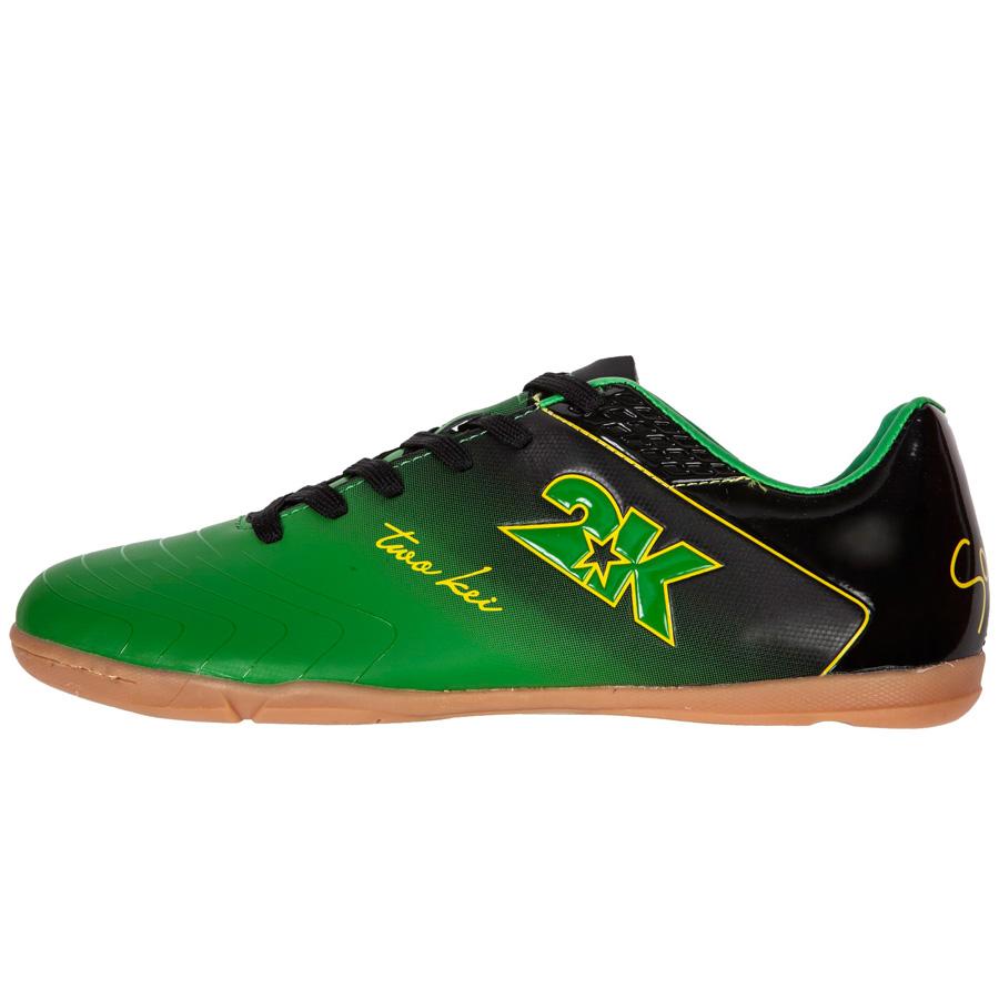 "Бутсы для футзала 2K Sport ""Santos"", цвет: зеленый, черный. Размер 42 125418-green-black"