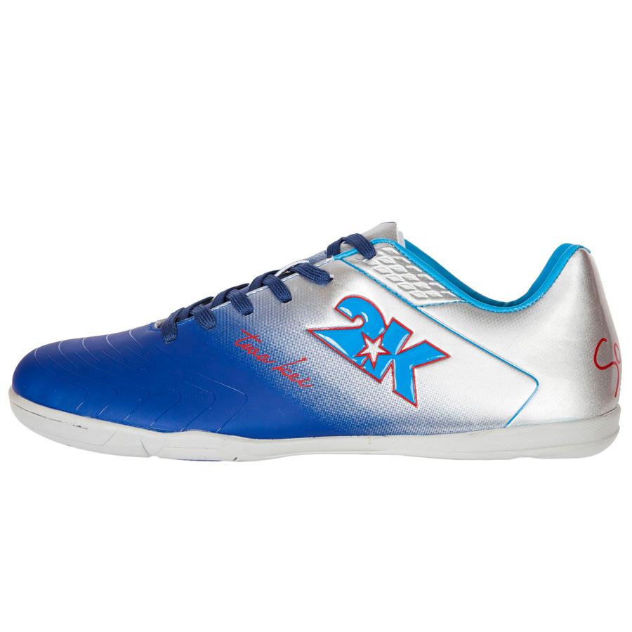 "Бутсы для футзала 2K Sport ""Santos"", цвет: темно-синий, серебристый. Размер 43 125418-navy-silver"