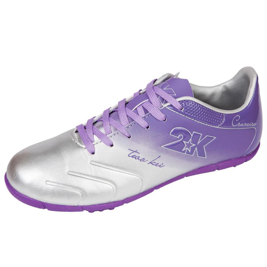 """Бутсы футбольные 2K Sport """"Cruzeiro"""", цвет: серебристый, фиолетовый. 125523. Размер 37 125523-silver-violet"""
