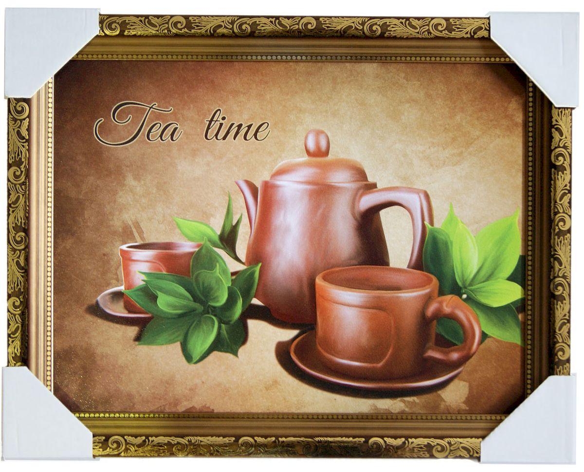 Картина в раме Proffi Home Чайная пауза, 30 х 40 смВ1136Картина Proffi Home поможет украсить интерьер. Картина оформлена в красивую деревянную рамку коричневого цвета с золотым декором. Фотопечать на бумажном постере с тиснением. Металлические петли, винты для подвешивания картины в комплекте. Размер картины: 30 х 40 см.