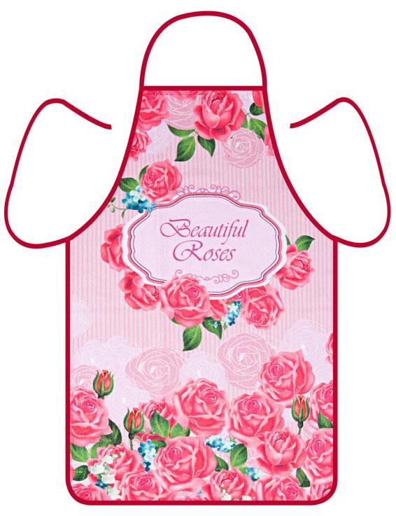 Фартук Soavita Роза, цвет: красный, 50 х 73 см. 8060580605Перед использованием постирать при температуре не выше 40 градусов