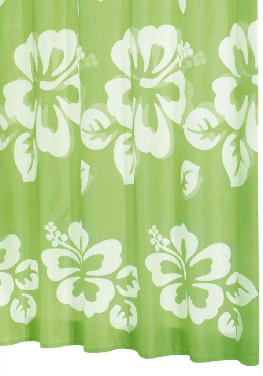 Штора для ванной комнаты Ridder Flowerpower, цвет: зеленый, 180 х 200 см. 4235542355Штора для ванной комнаты Ridder Flowerpower, изготовленная из текстиля с антигрибковым и антистатическим покрытием, отлично дополнит любой интерьер ванной комнаты. Нижний кант утяжелен каучуковой лентой. Машинная стирка. Глажка при низкой температуре.