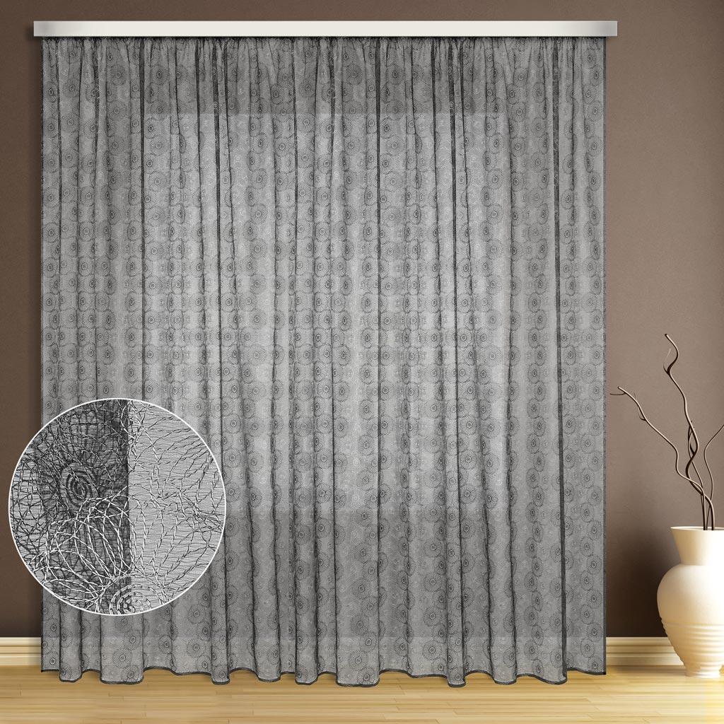Тюль ТД Текстиль Цветок, цвет: серый, высота 270 см89536Эта тюль выполнена на сетке с полным заполнением вышивкой, может использоваться в интерьере без дополнительных штор