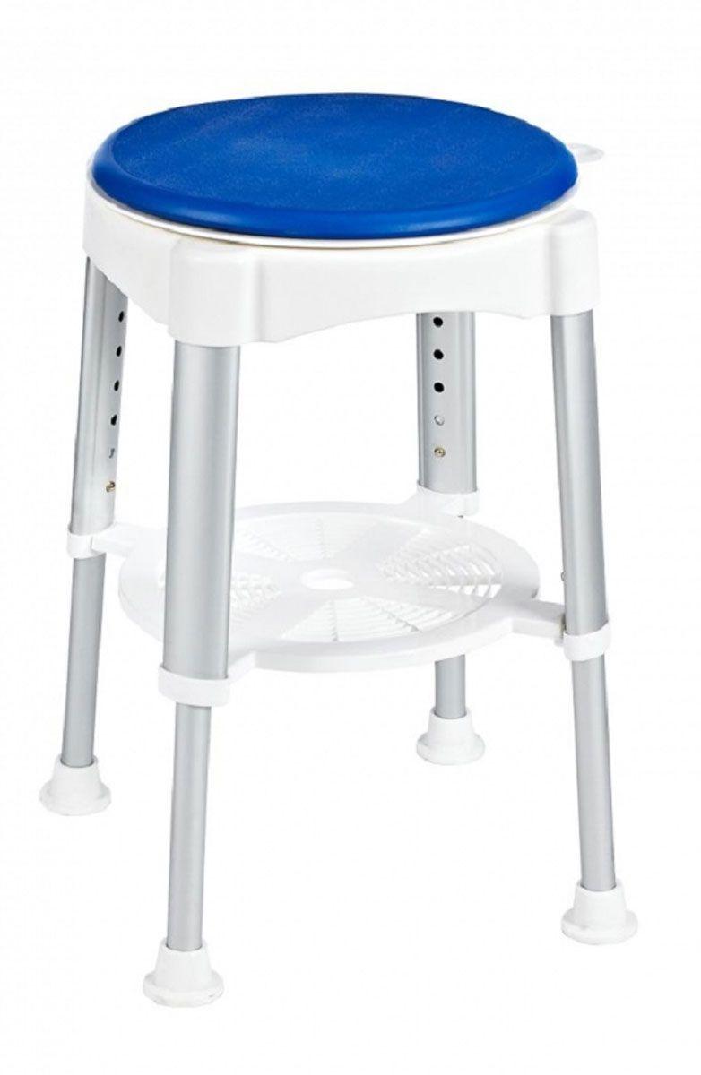 Табурет в ванную Ridder Assistent, поворотный, цвет: белый, матовый хром. А0050401А0050401Высококачественный немецкий табурет в ванную с регулируемой высотой разработан и запатентован компанией Ridder. В посадочной части расположен вращающийся элемент (360°), фиксация каждые четверть оборота. Конструкция снабжена резиновыми накладками для минимизации скольжения по полу. Серия Assistent создана для комфорта и безопасности, в том числе пожилых людей и лиц с ограниченными возможностями. Не содержит токсичных веществ. Безопасность изделия соответствует стандартам LGA (Германия). Компания Ridder предоставляет на свою продукцию гарантию качества 3-5 лет. Состав: анодированный алюминий, пластик, поворотная часть - пенополиуретан. Диаметр посадочной части: 35,5 см. Высота табурета: 41,5-58 см. Максимальная нагрузка: 150 кг.