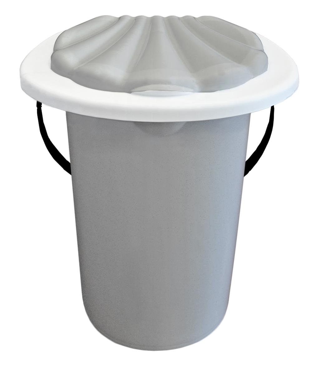 Ведро-туалет InGreen, цвет: мраморный, 20 л ведро эмалированное кмк с крышкой с поддоном 10 л