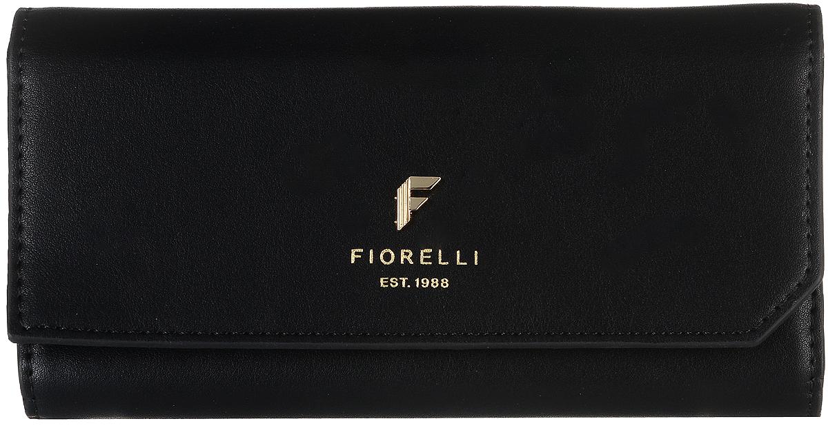 Кошелек женский Fiorelli, цвет: черный. 0831 FSICE 8508Современный кошелек оригинального дизайна Fiorelliизготовлен из эко-кожи и оформлен металлической пластиной с логотипом бренда. Внутри два отделения для купюр, одиннадцать карманов для карт и один большой карман для монет, который застегивается на молнию. Так же есть четыре скрытых кармана и один кармашек с прозрачным окошком. Снаружи назадней стенке прорезной карман на застежке-молнии. Закрывается кошелек на застежку-кнопку. Такой кошелек станет замечательным подарком человеку, ценящему качественные и практичные вещи.